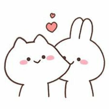 bunny couple cute widget