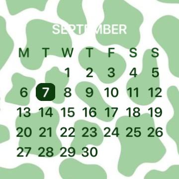 GREEN AESTHETIC CALENDAR SIMPLE