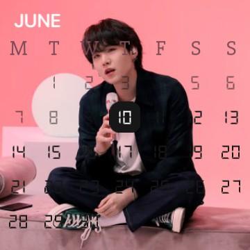 Yoongi Calendar Pink