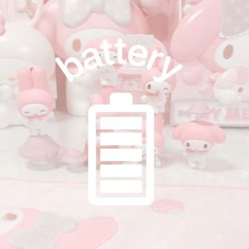 pink soft battery widget