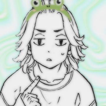 Mikey with a frog headband ;