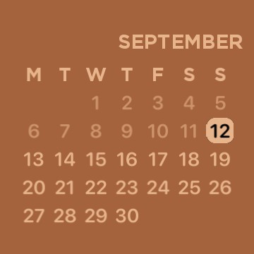 Coffee Brown Calendar