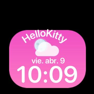Hello kitty widget