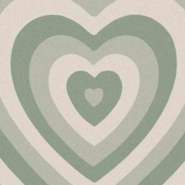 Green heart aesthetic