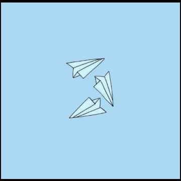 Baby blue kites
