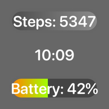 time + steps + battery