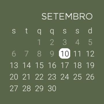 calendar green aesthetic