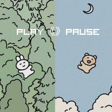 blue green play pausee