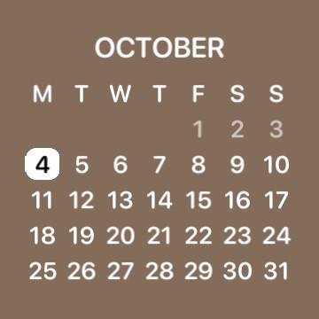 Brown calendar