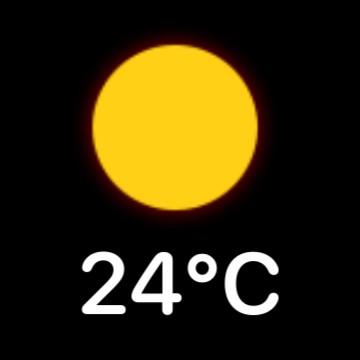 Minimalist weather