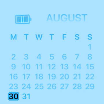 Blue Calender With Battery
