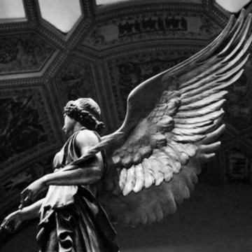 Angel in a museum
