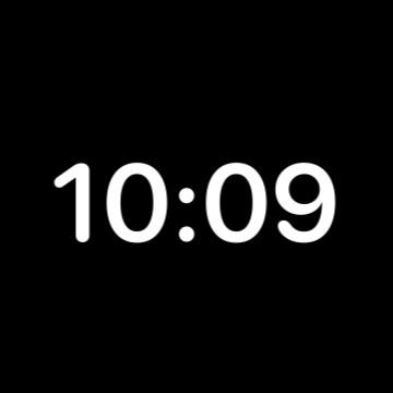 transparent widget time