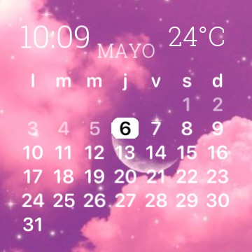 Space pink and white widget