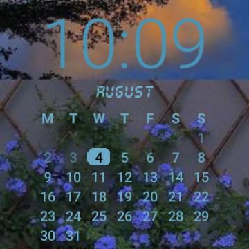 Flower Clock and Calendar