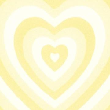 yellow heart aesthetic