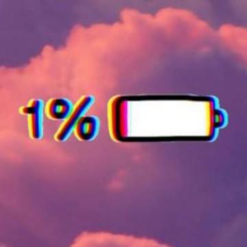 1%battery